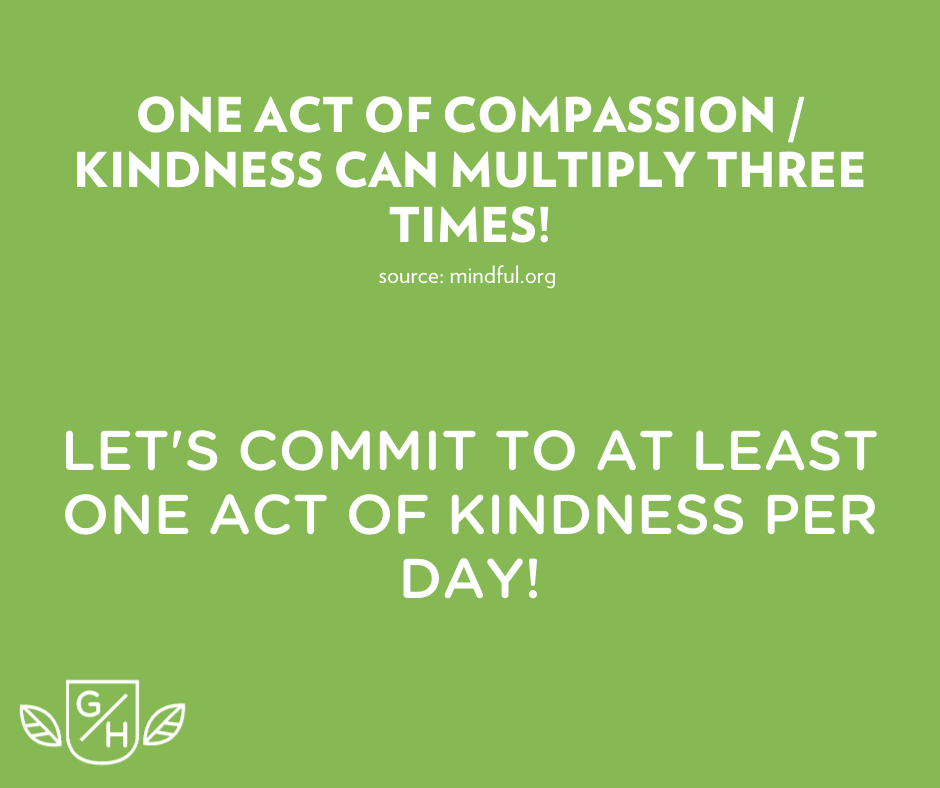 let's commit to at least one act of kindness per day
